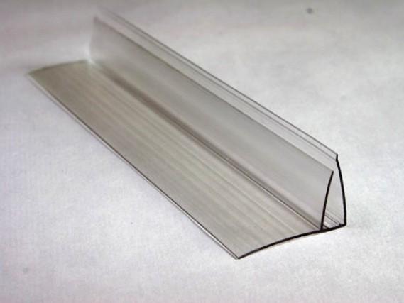 Пристенный профиль. . Профиль пристенный для сотового поликарбоната. . Пристенный профиль для листов поликарбоната - Поликарбона